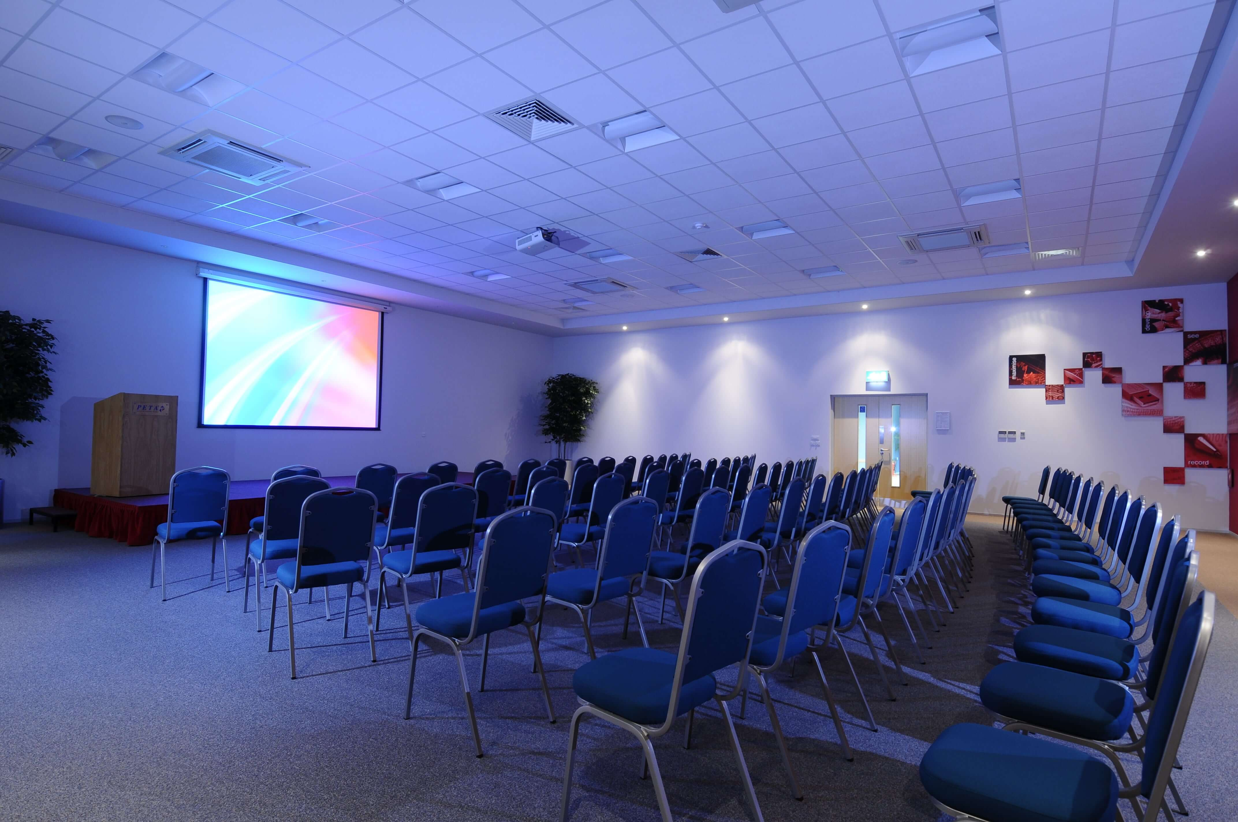 Theatre conference room with projector