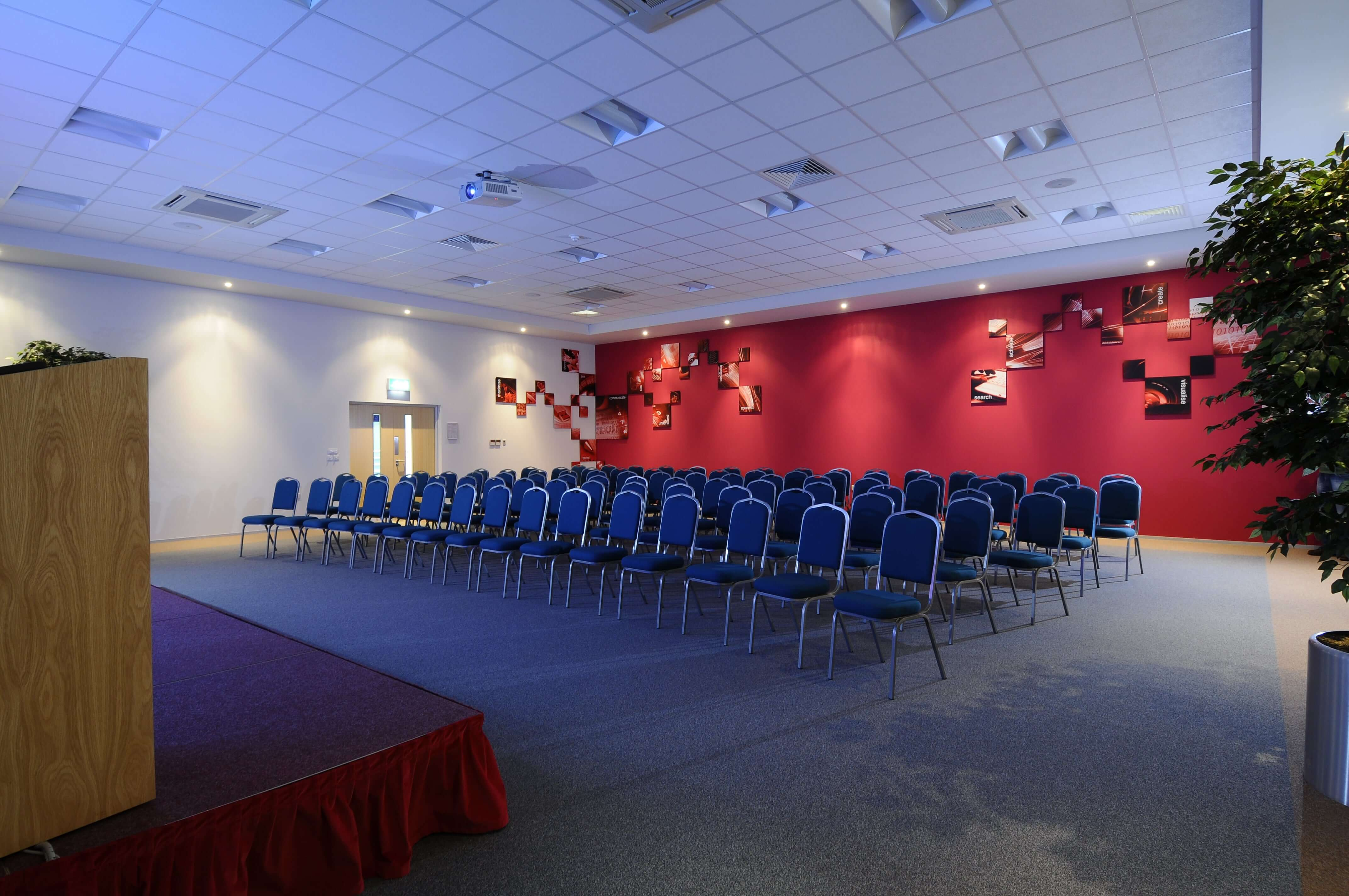 Theatre conference room with seats out